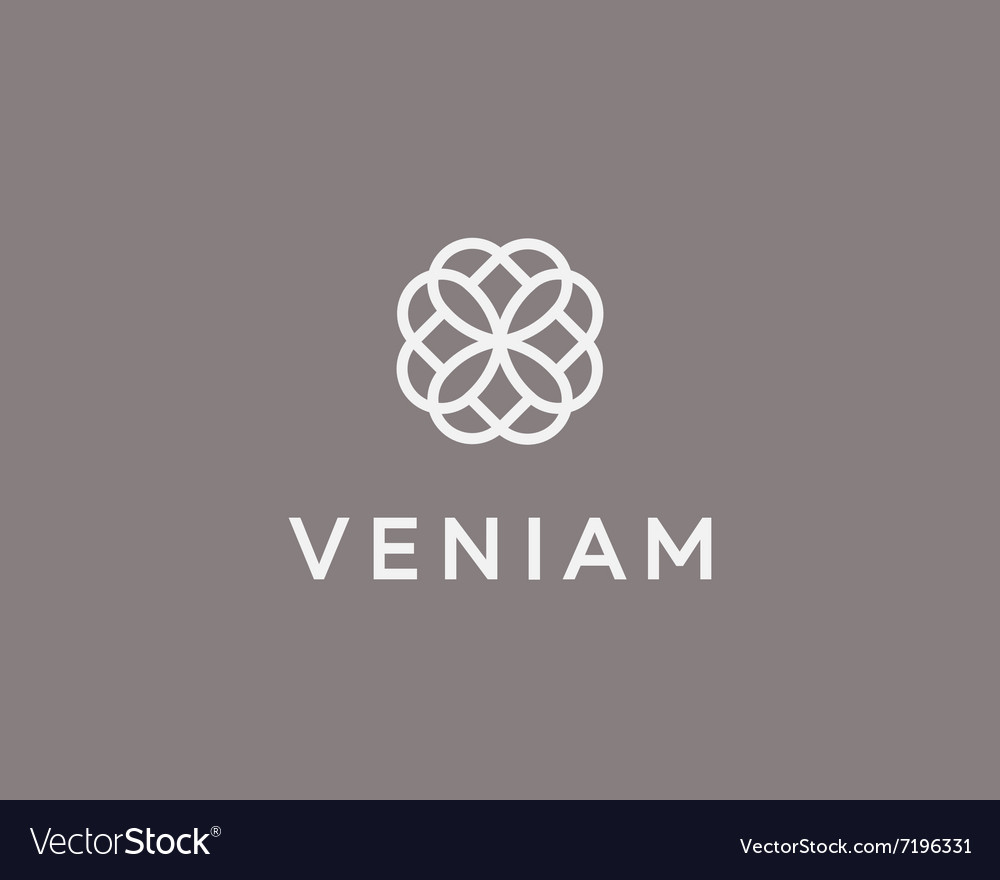 Abstract elegant flower logo icon design vector