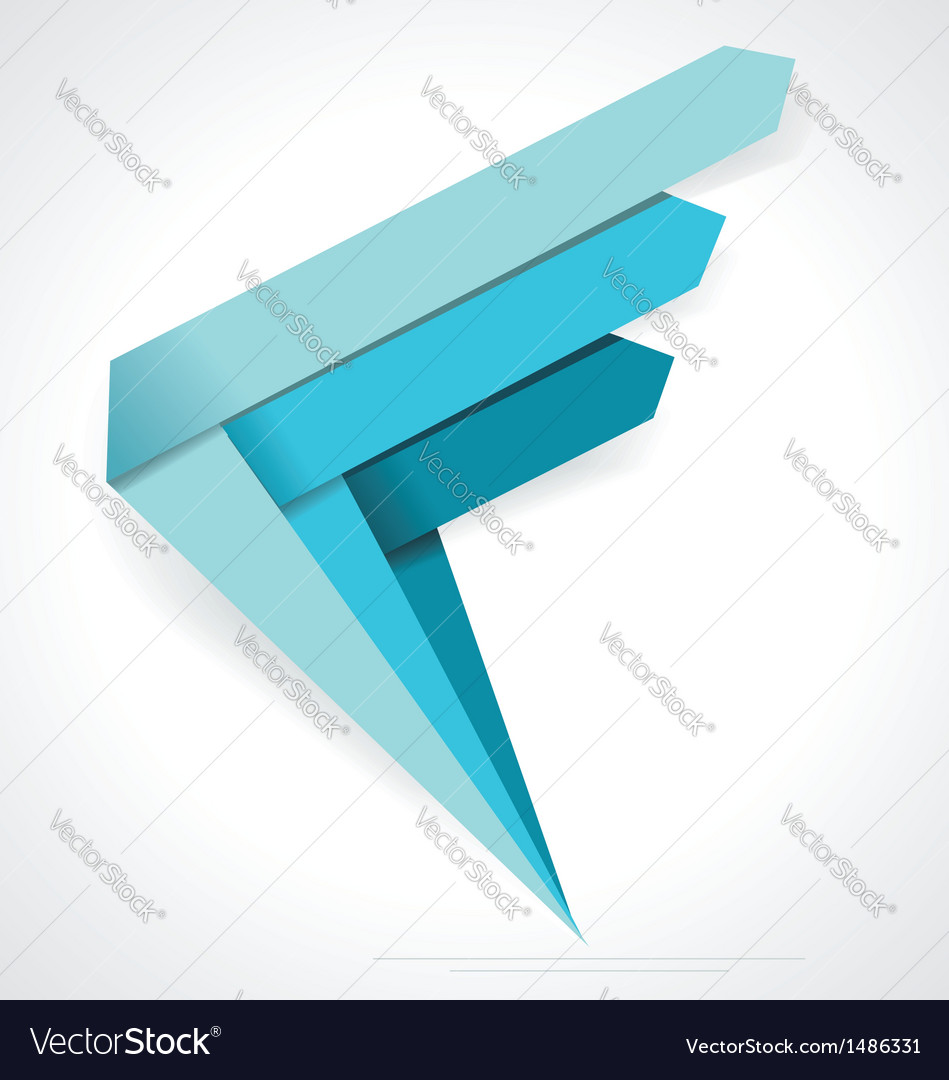 Business abstract arrows icon corporate media vector