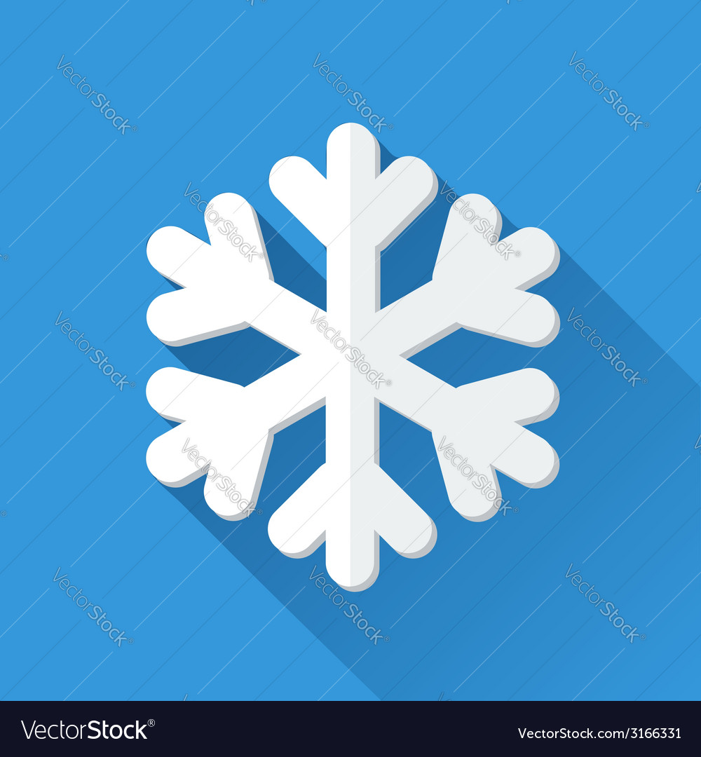Simple snowflake icon in flat style vector