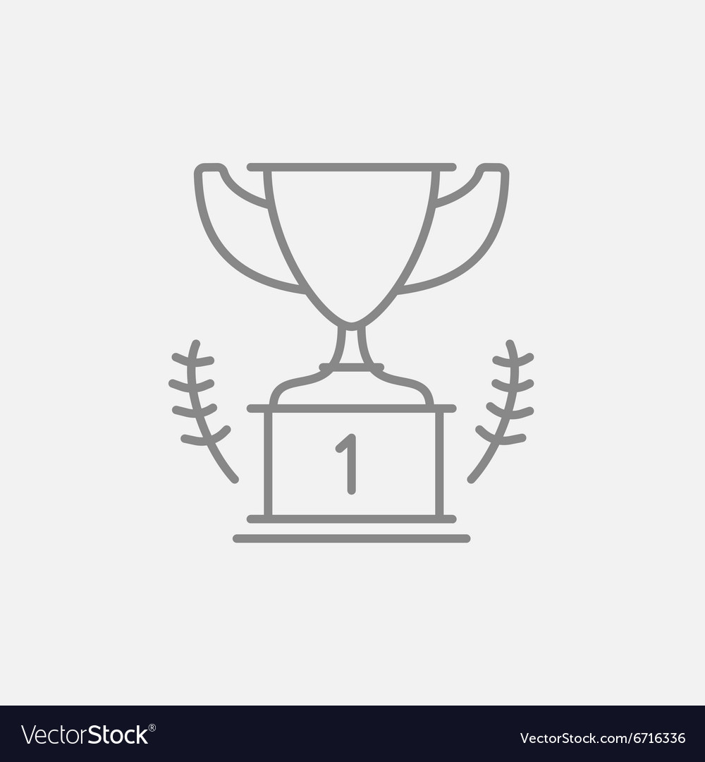 Trophy line icon vector