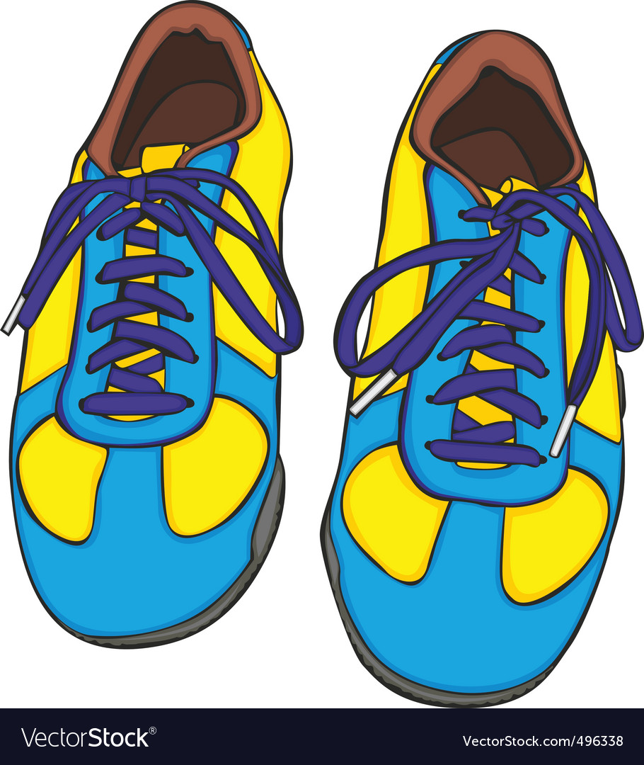 Cartoon shoes vector