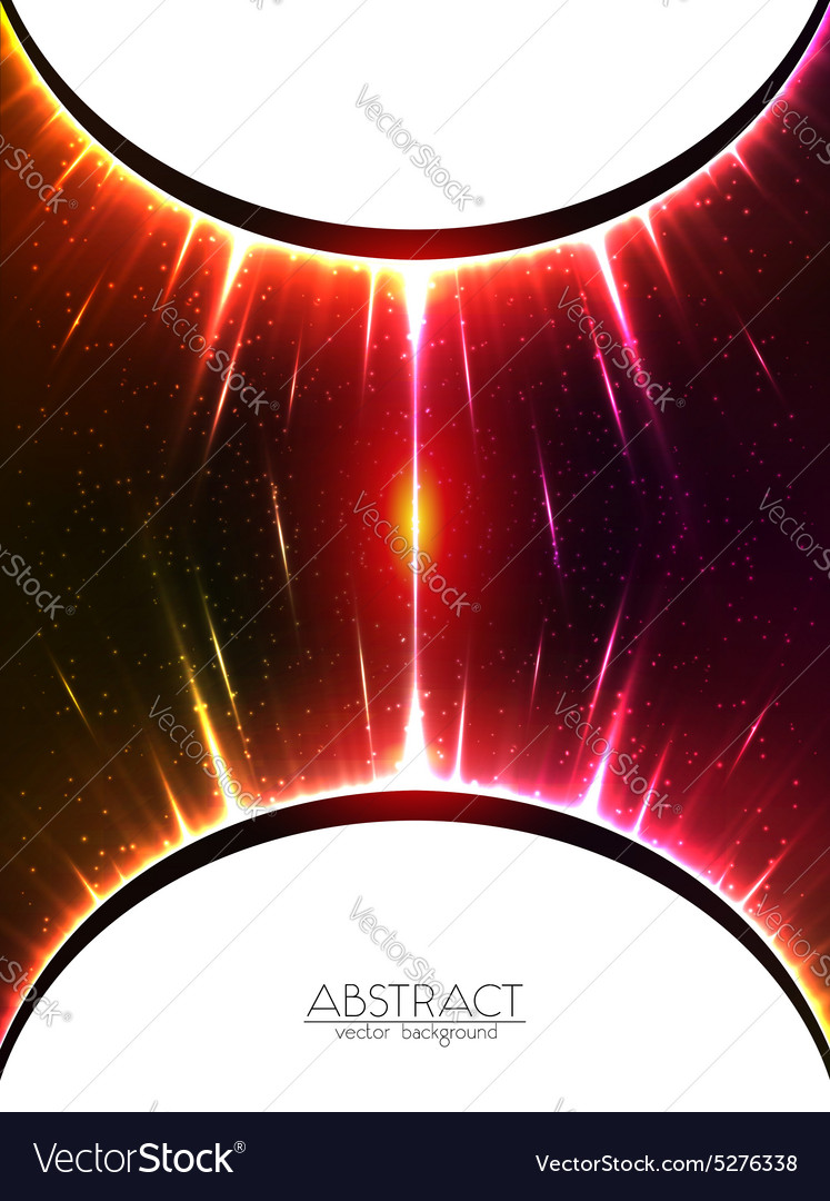 Red shining cosmic spheres gravity vector