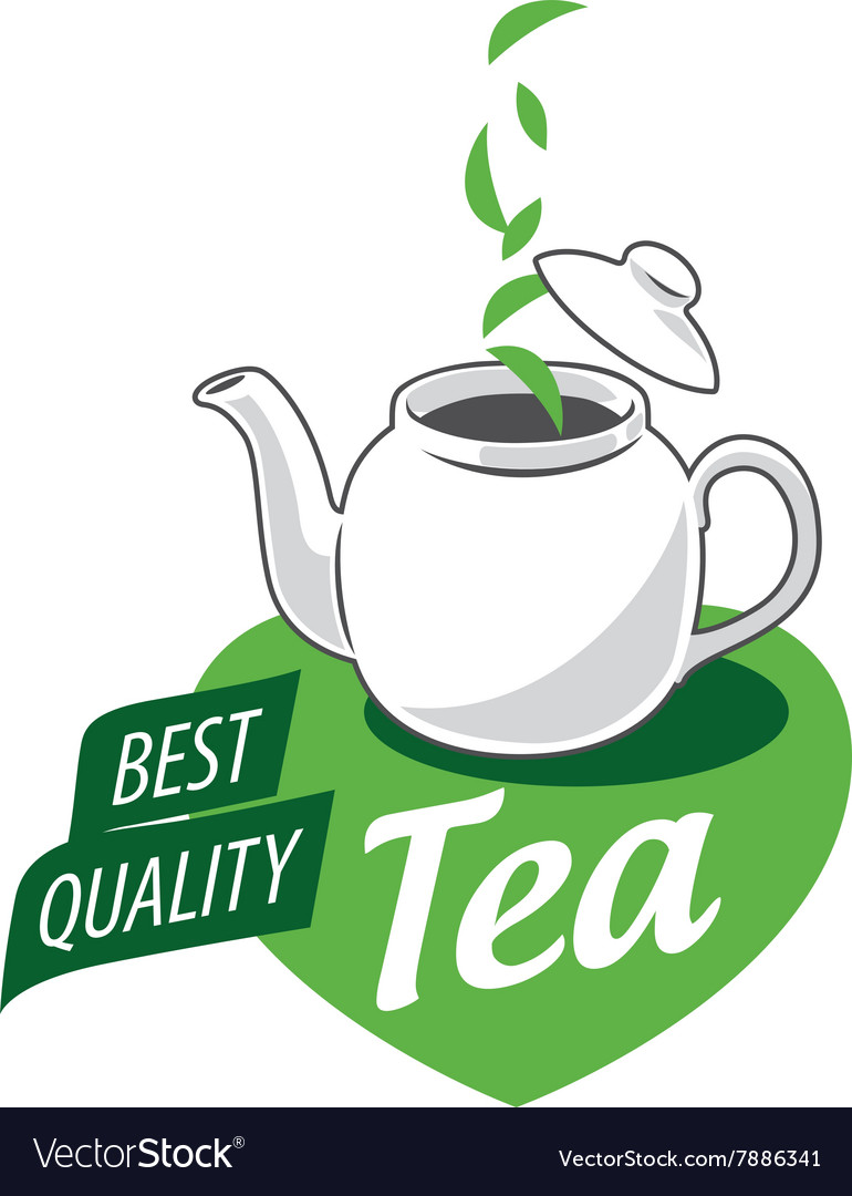 Logo tea vector