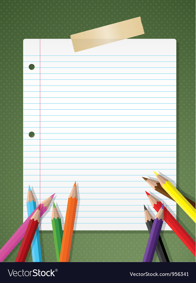 Stationery background vector