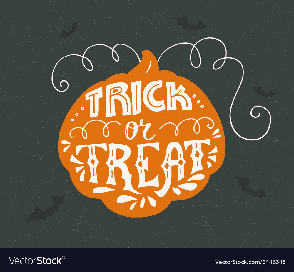 Trickortreat lettering vector