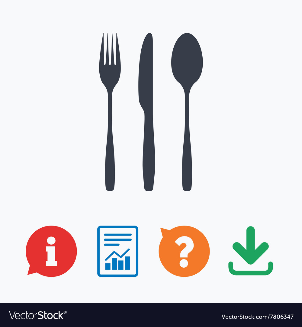 Fork knife tablespoon cutlery set vector