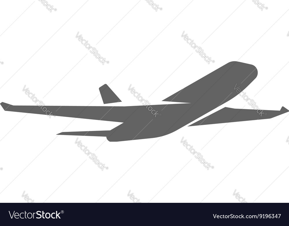 Plane taking off silhouette vector