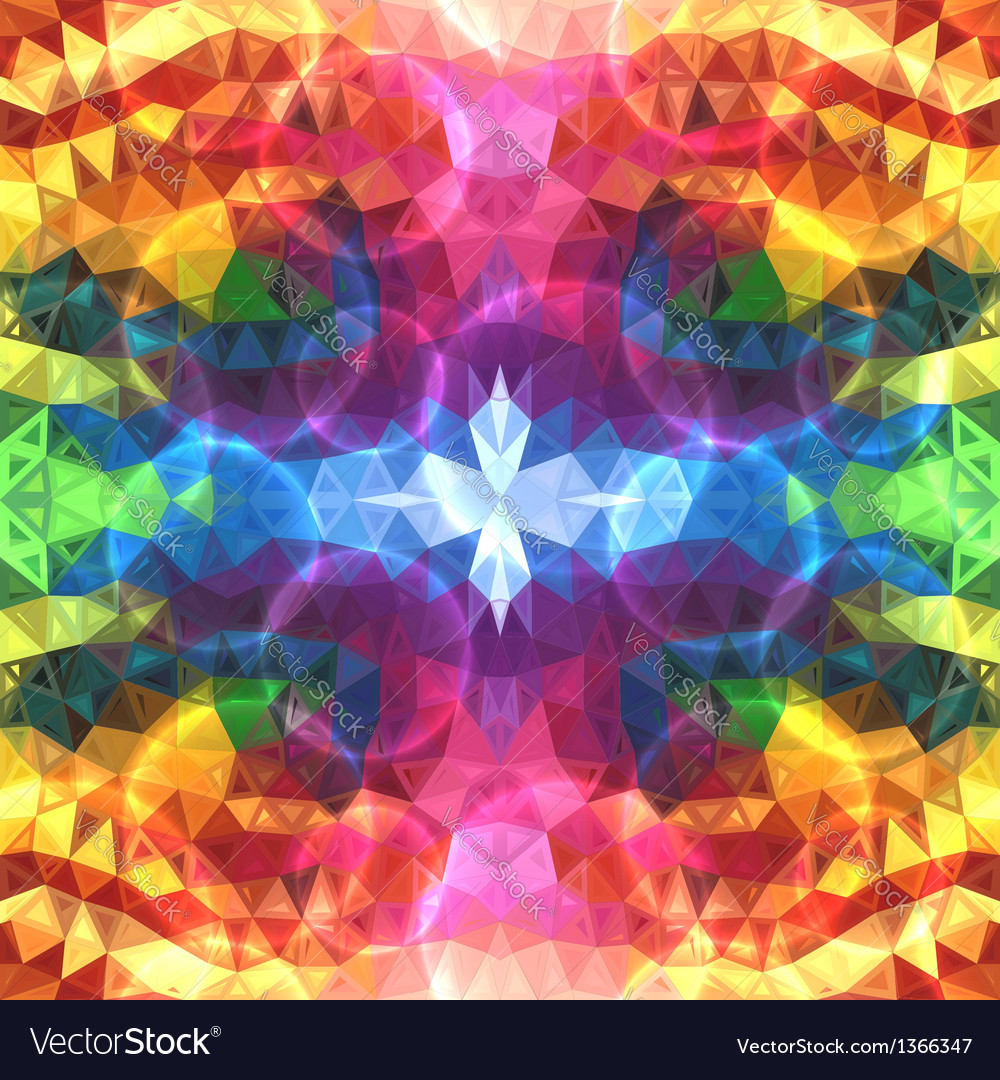 Rainbow colors abstract shining triangles vector