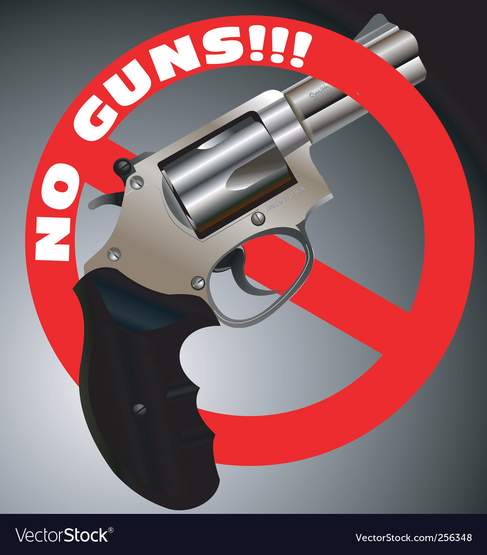 No guns revolver vector