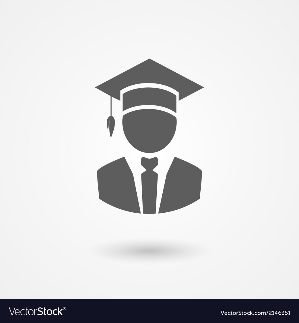 Graduate or professor in a mortarboard hat vector