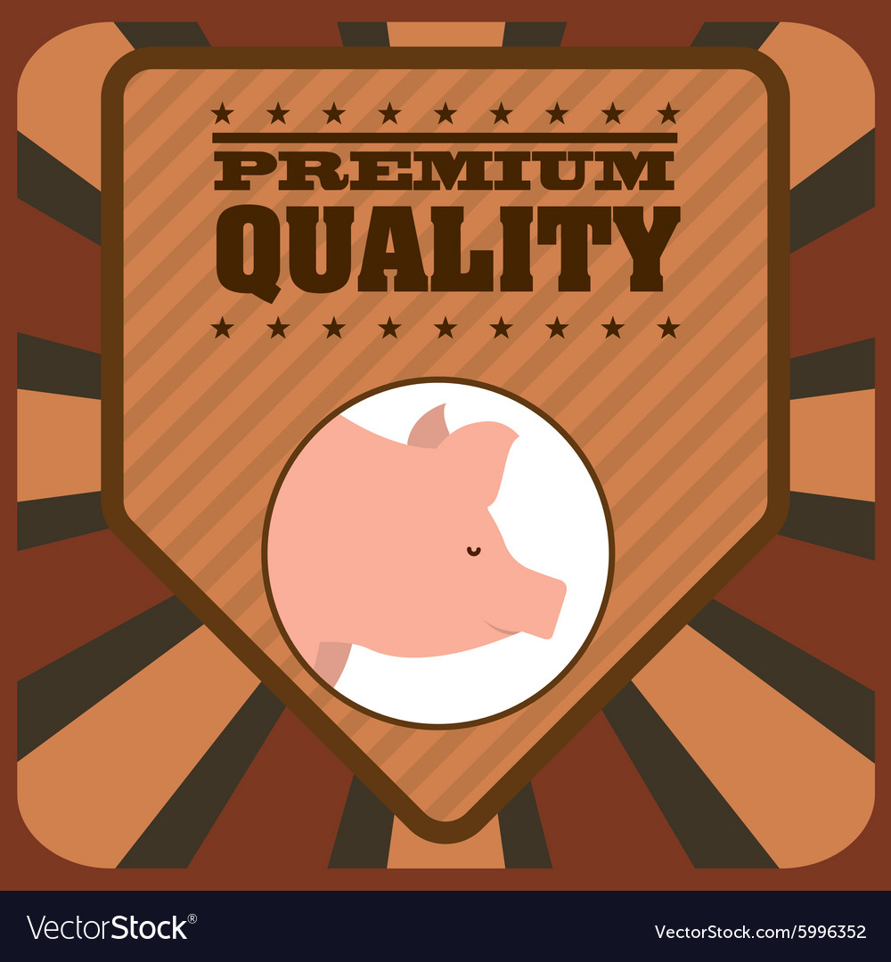Butcher products vector