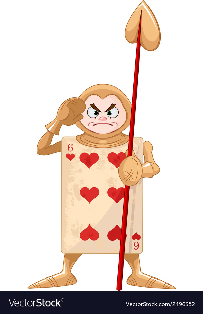 Queen of hearts guard vector