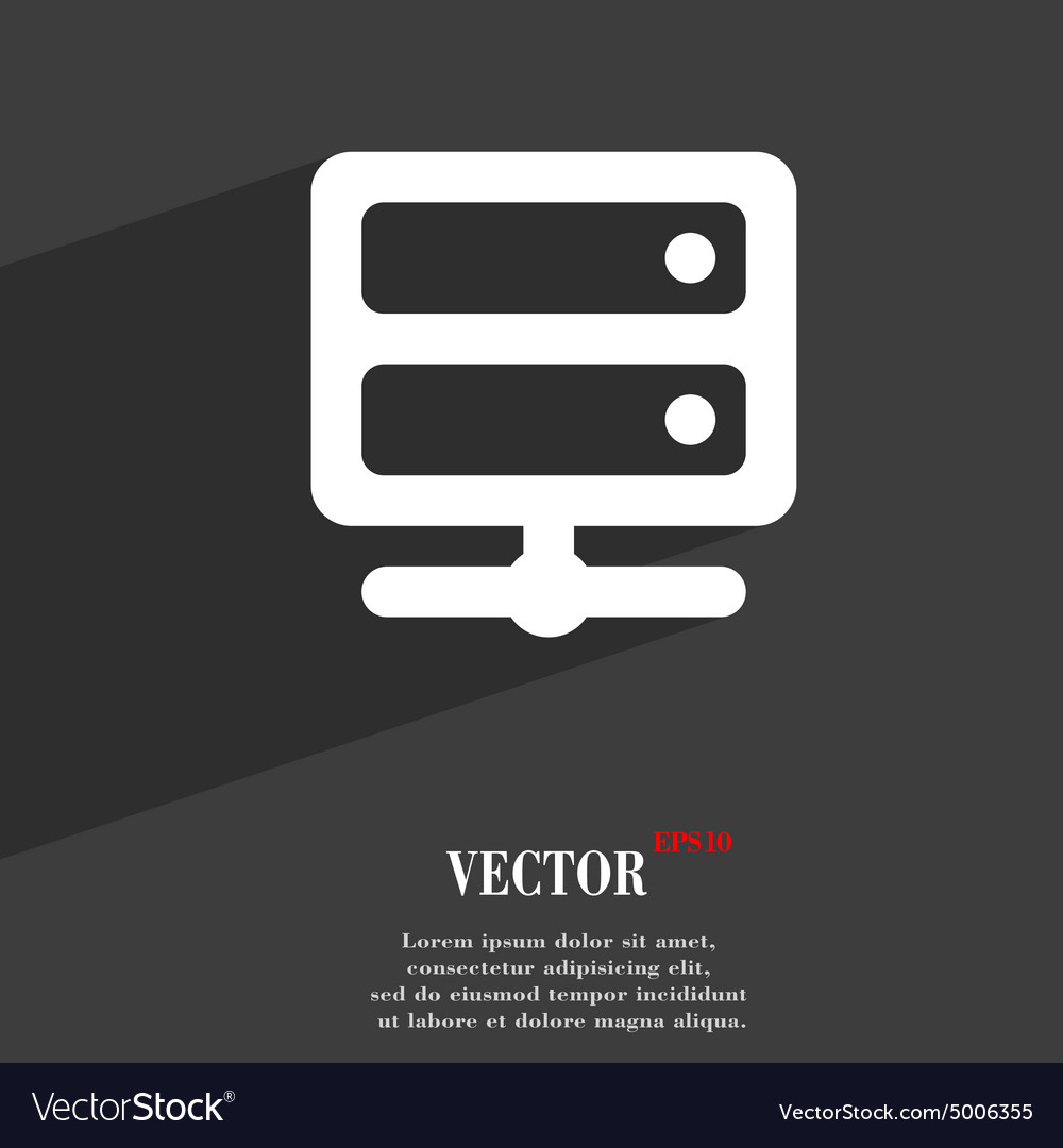 Server icon symbol flat modern web design with vector