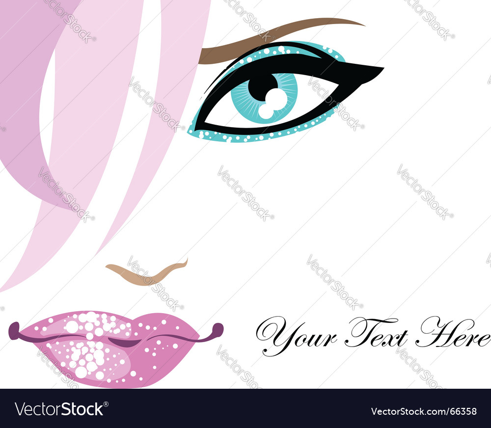 Glamour background with face vector