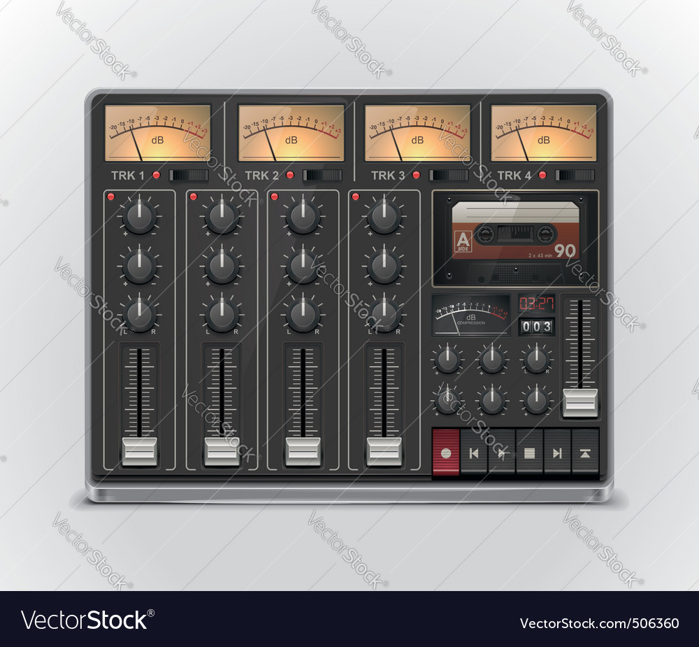 Portable recording studio icon vector