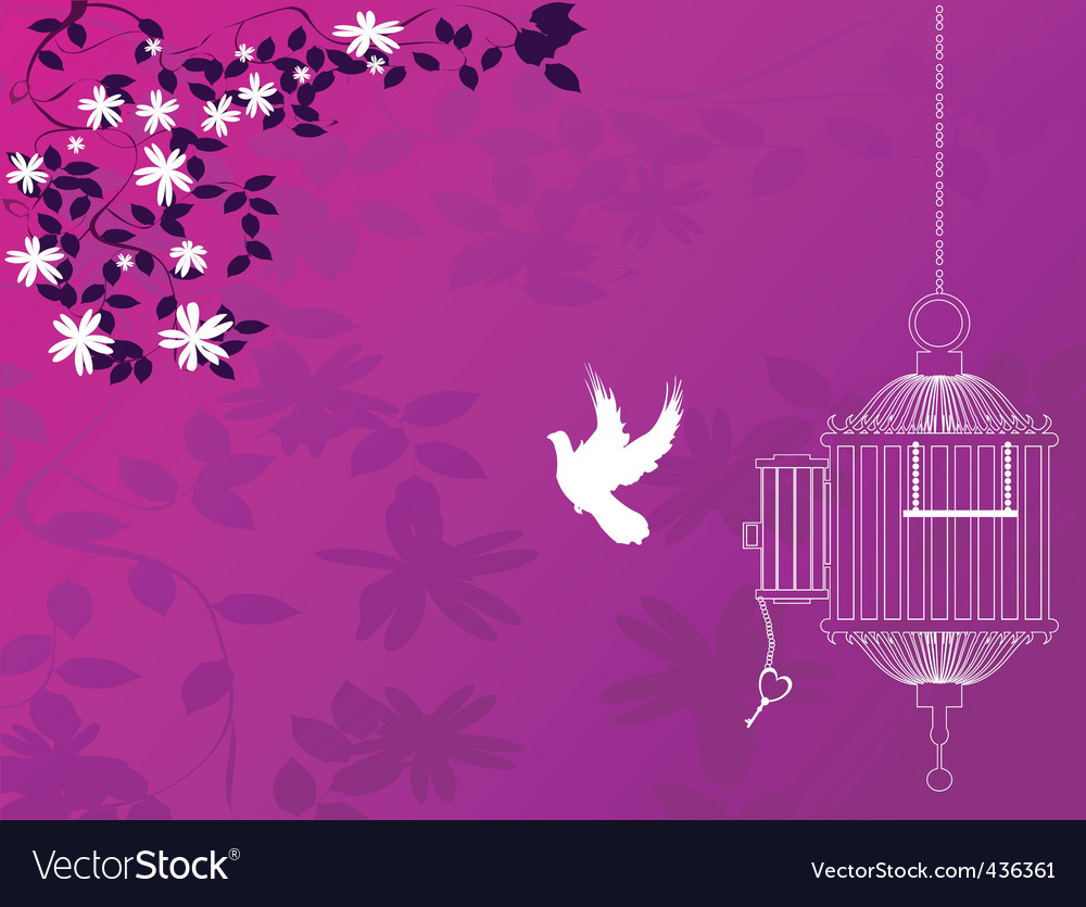 Flight to freedom vector