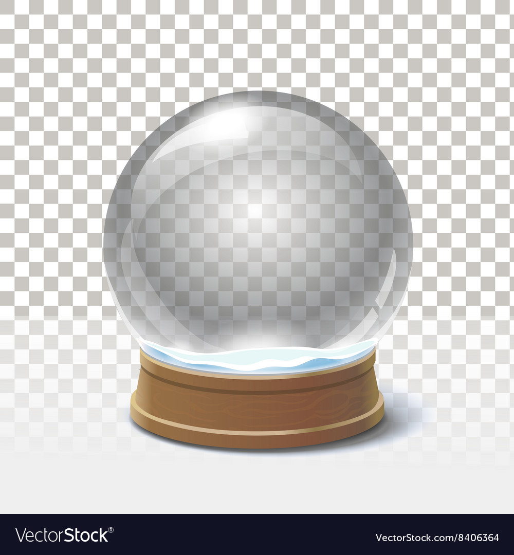 Christmas snow globe on checkered background vector