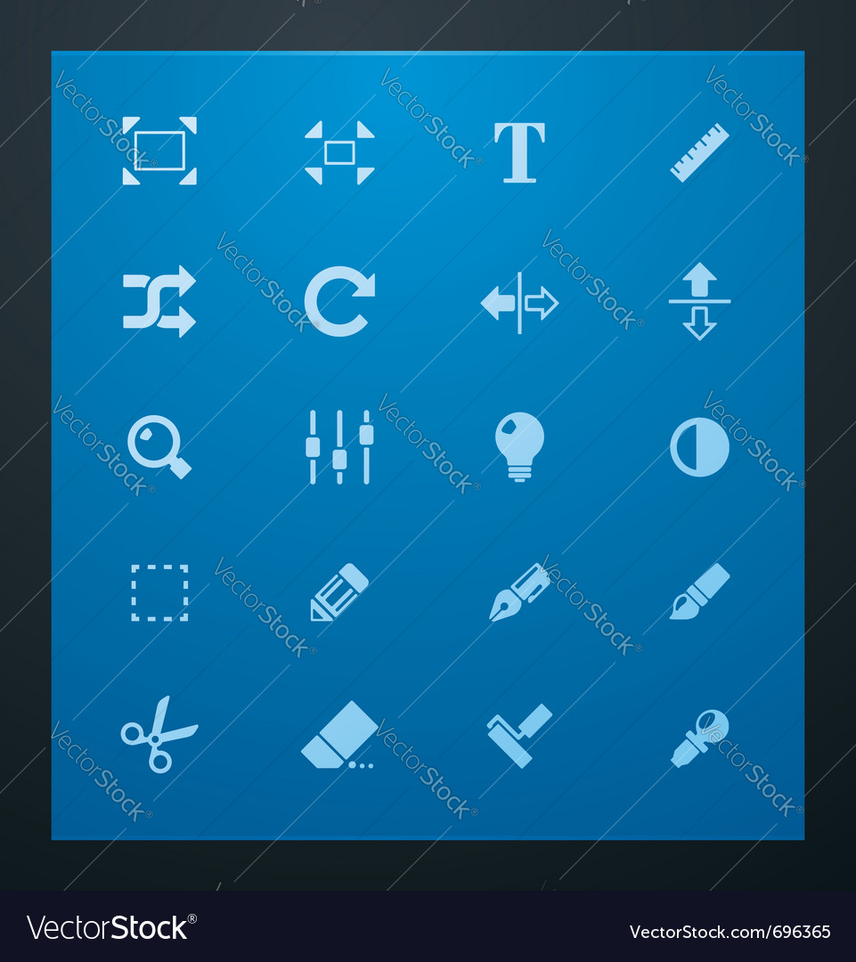 Universal glyphs 3 photo set vector