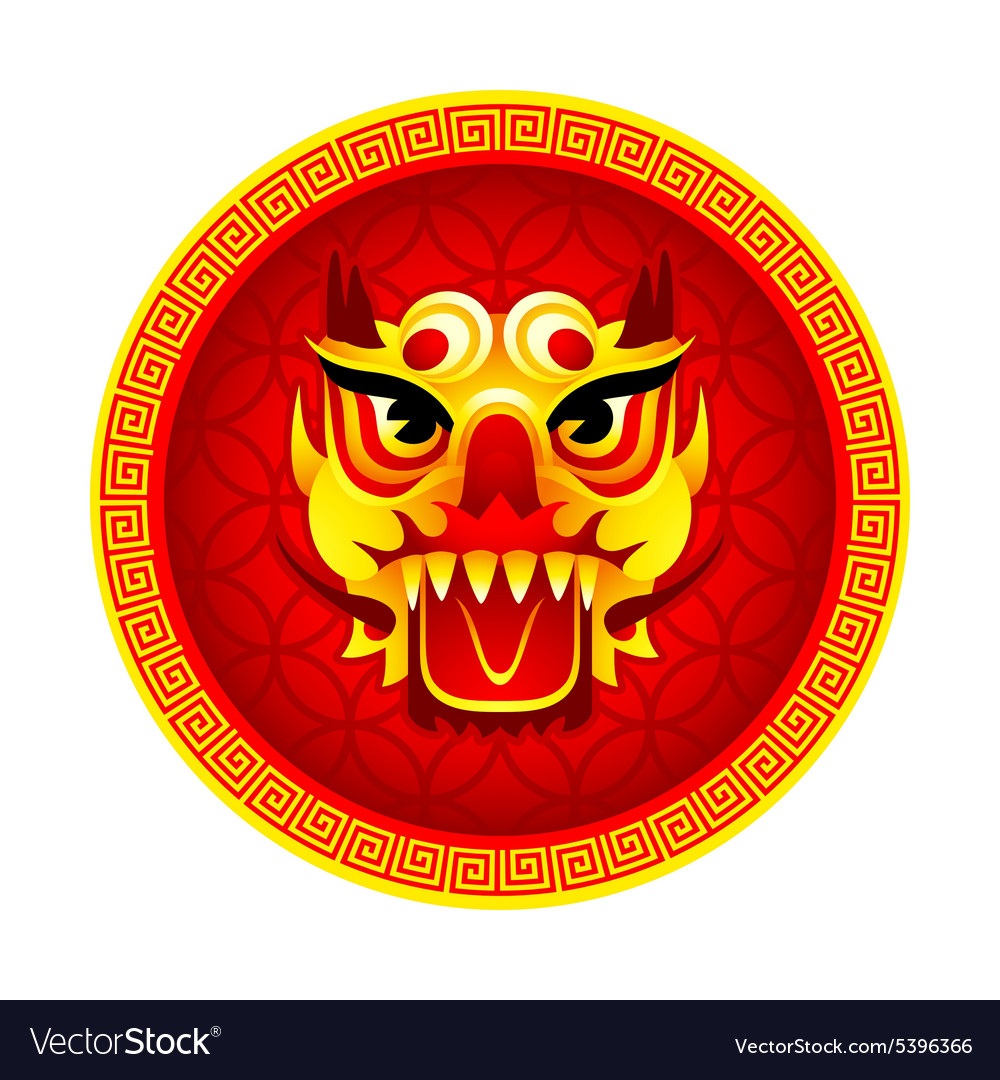 Lion mask symbol vector