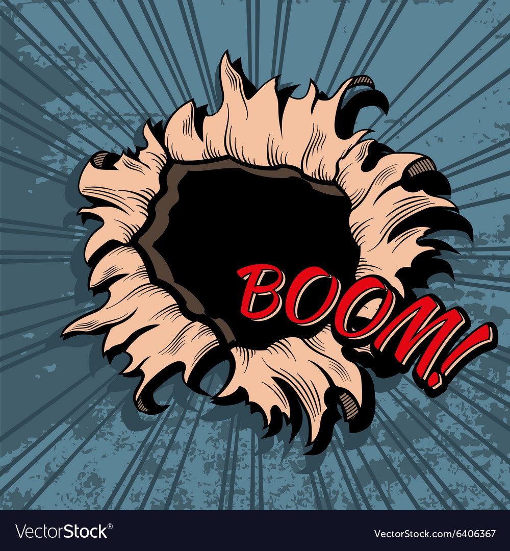 Comic style hole background vector