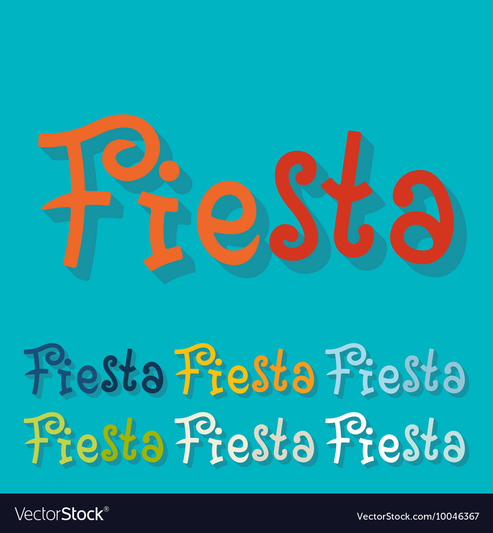Flat design fiesta vector
