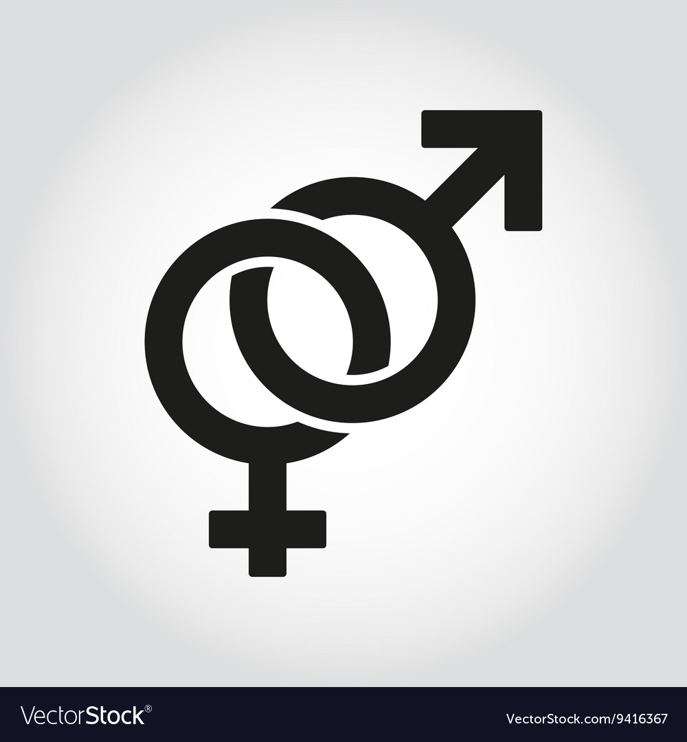 Sex symbol icon set vector