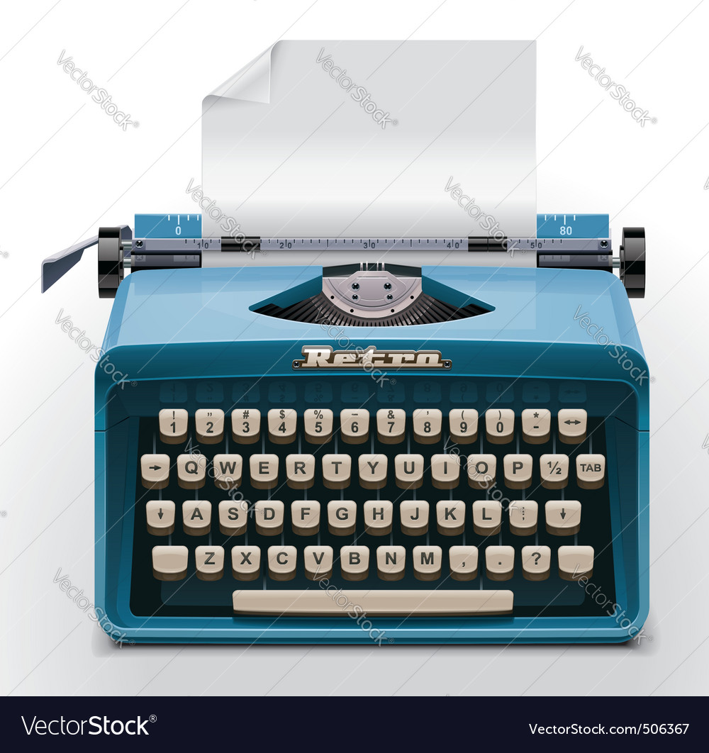 Typewriter xxl icon vector