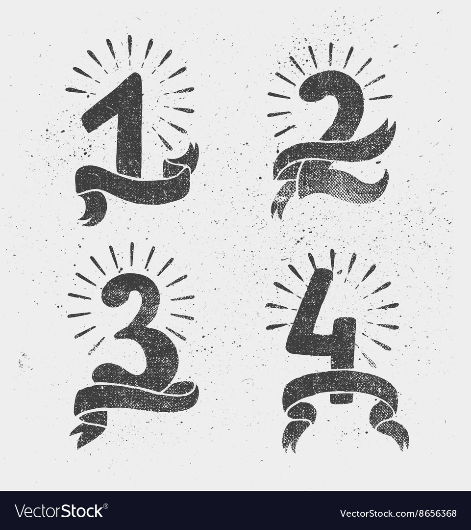 Set of anniversary numbers design vector