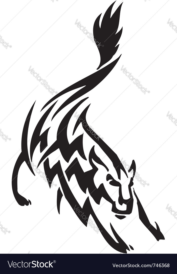 Wolf in tribal style  vector