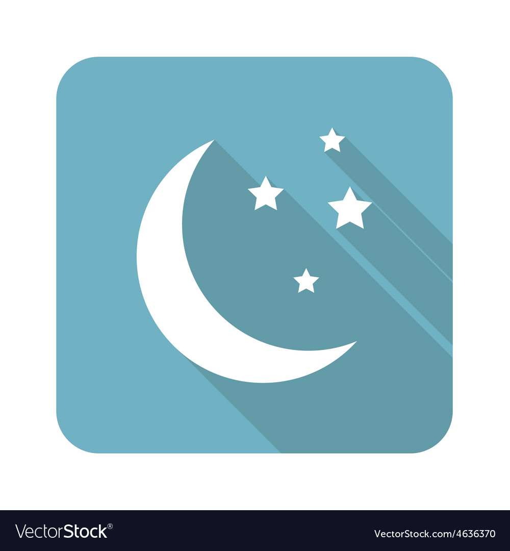 Crescent moon icon vector