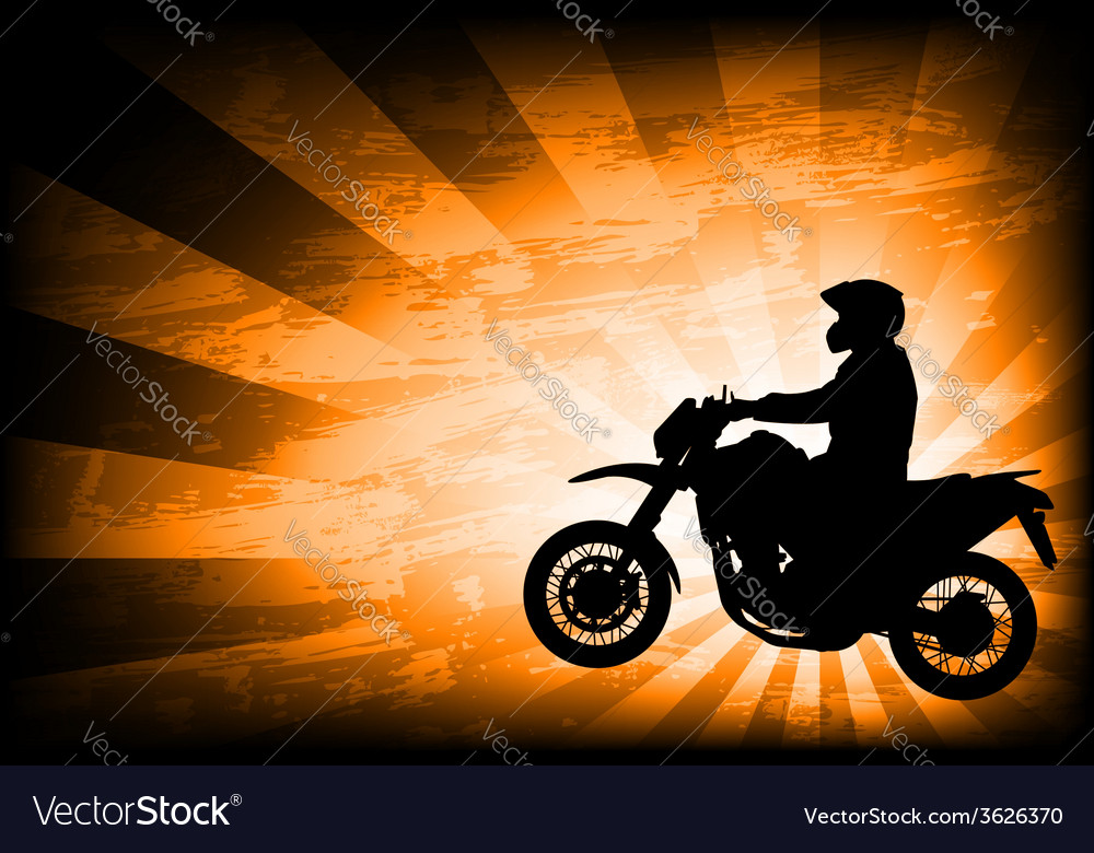 Motorcyclist background 3 vector