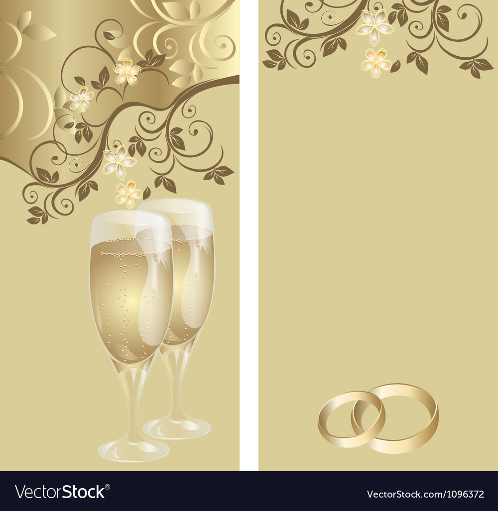 Wedding card with a floral pattern vector