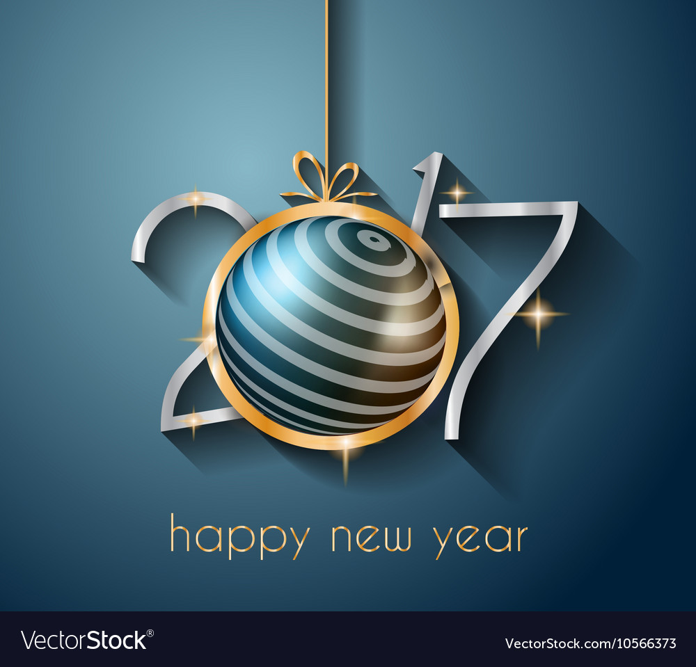 2017 happy new year background for your flyers vector