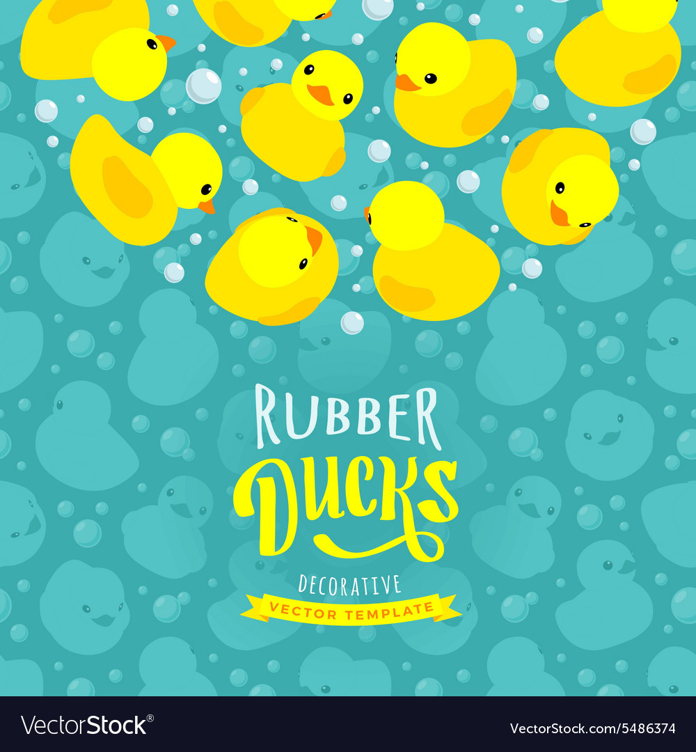 Decorating design made of yellow rubber vector