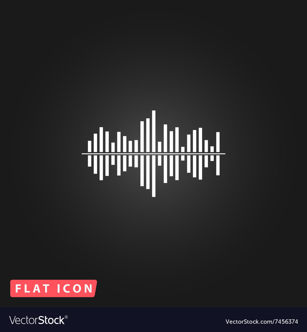 Sound wave icon  equalizer music element vector
