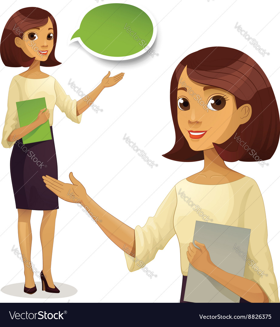 Career business work in office young woman in vector