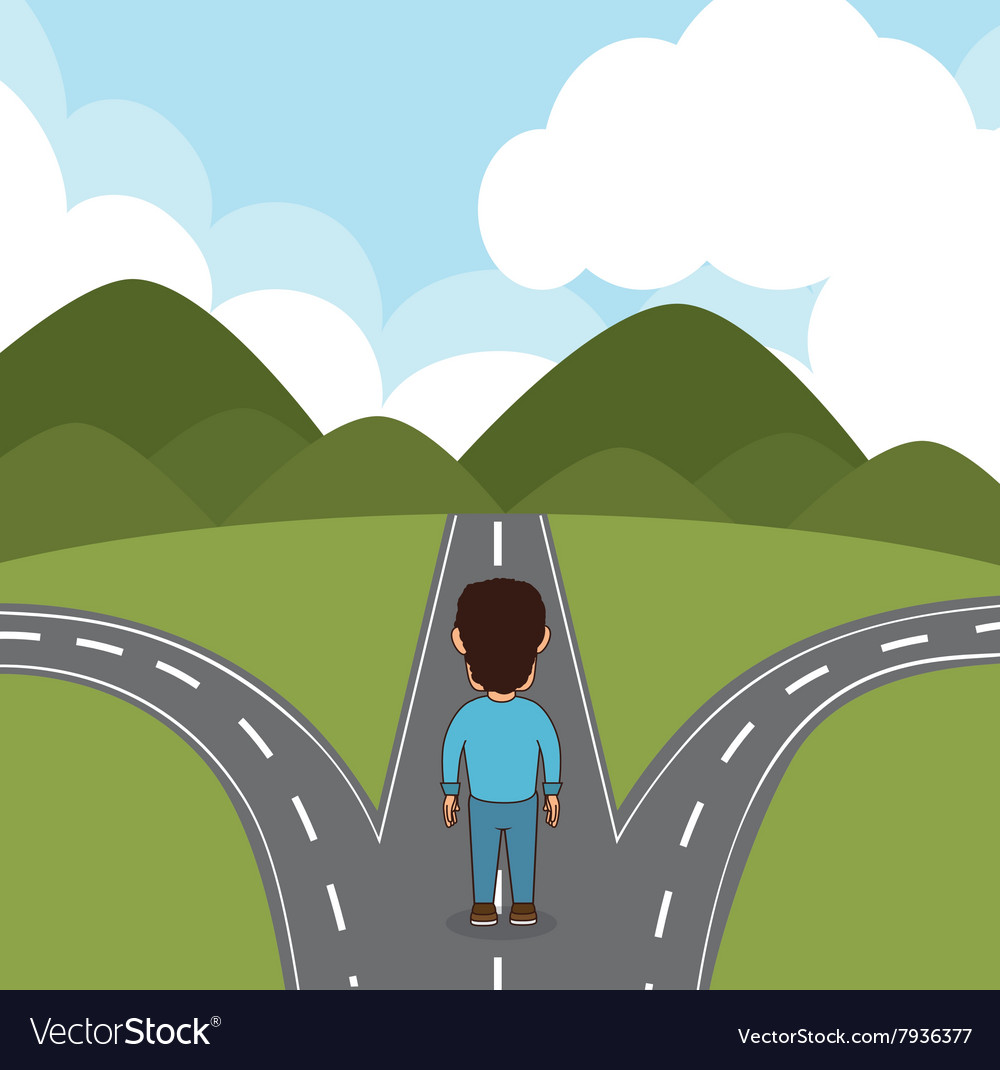 Roads and ways design vector