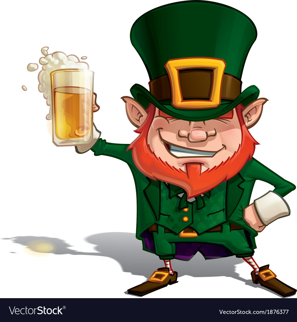 St patrick cheers vector