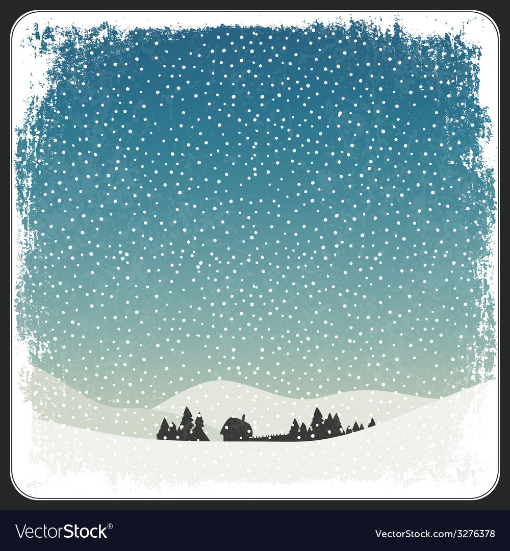Blank winter scene background vector