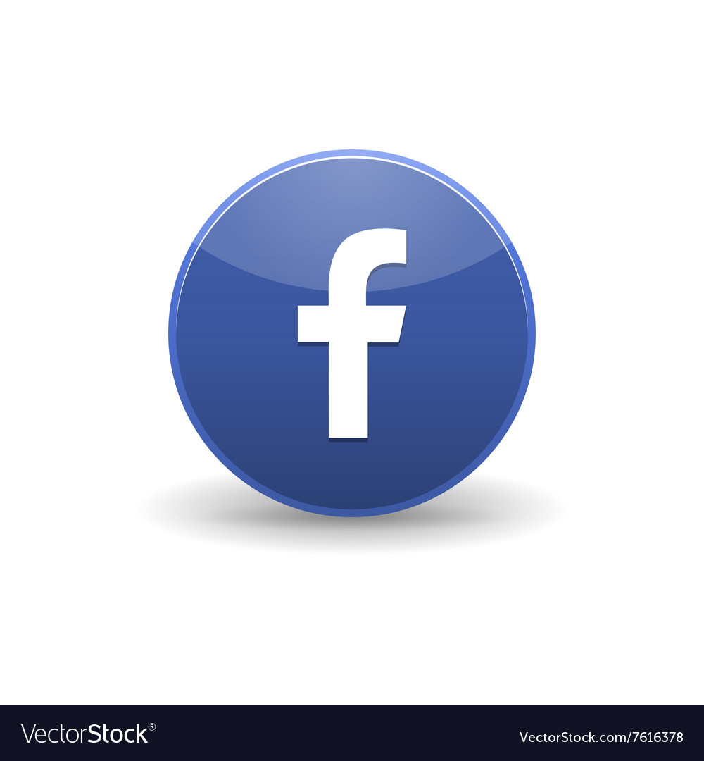Facebook icon simple style vector