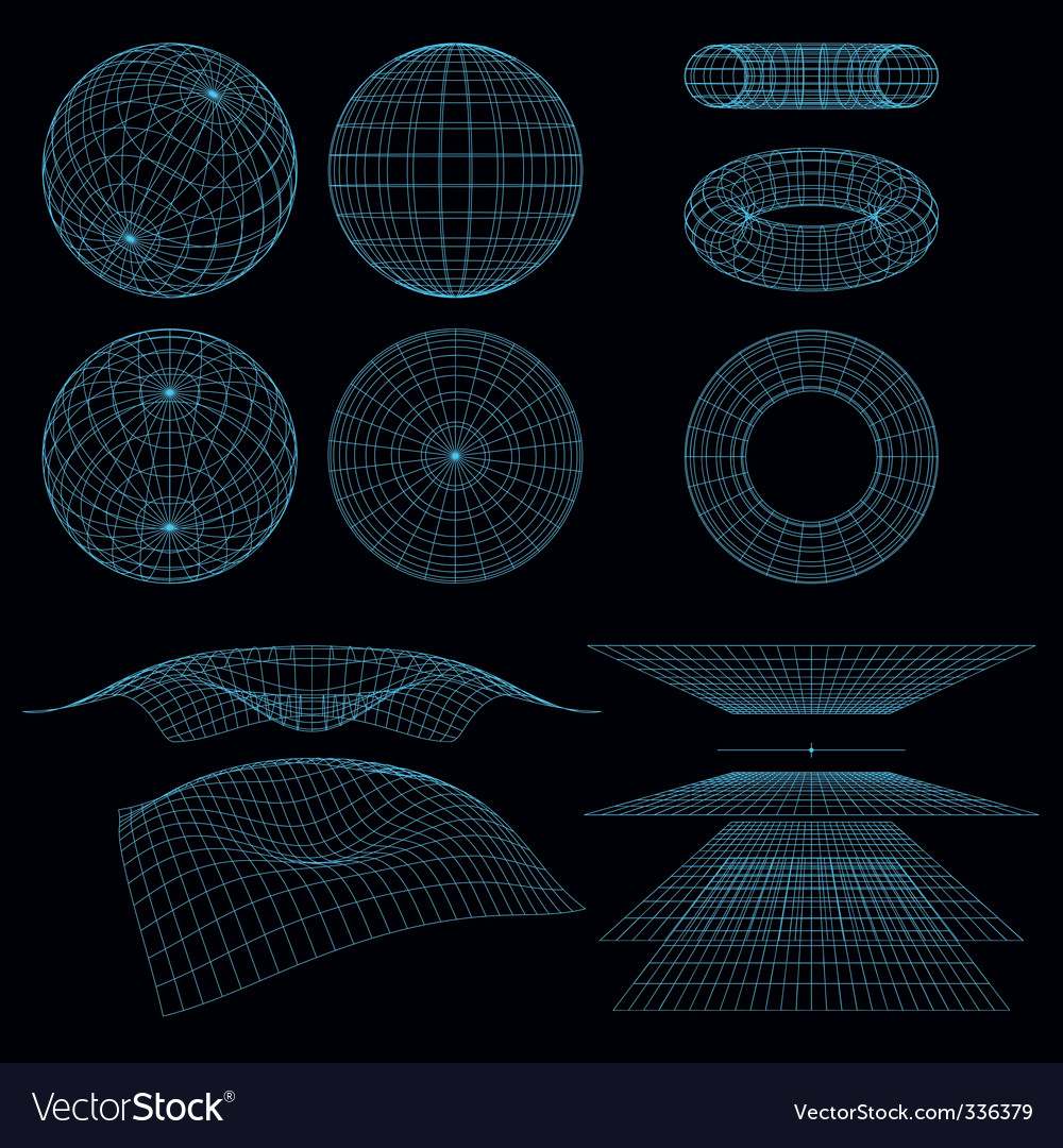 Geometry wireframe vector