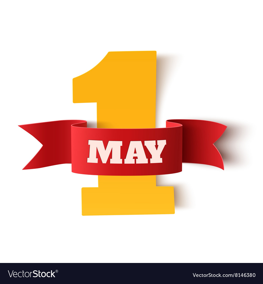 May 1st labor day background vector