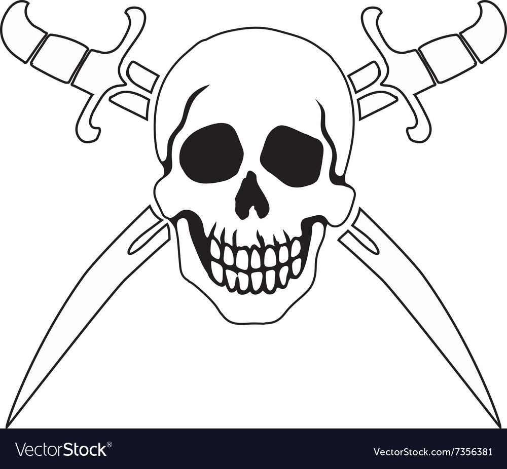 Pirate symbol jolly roger vector