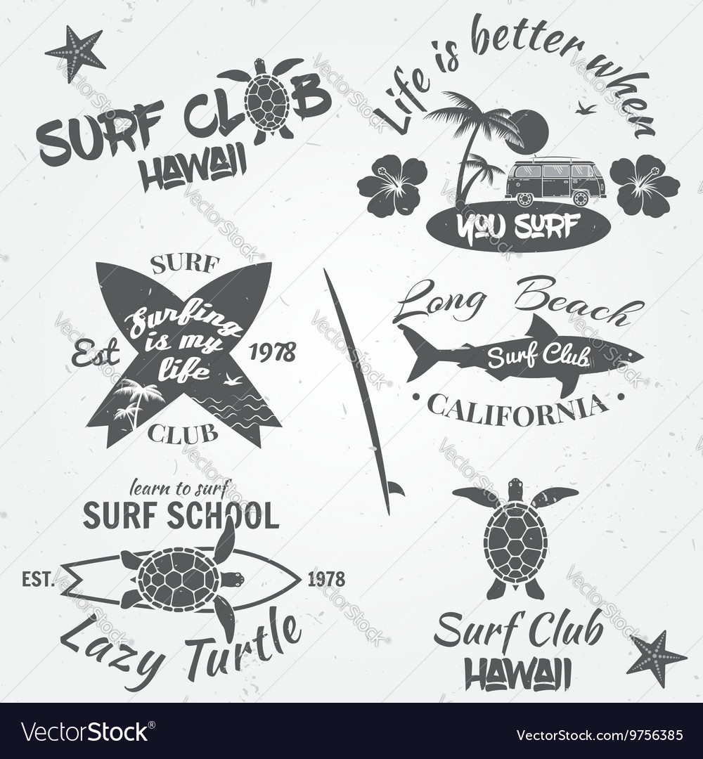 Set of retro vintage badges and labels vintage vector