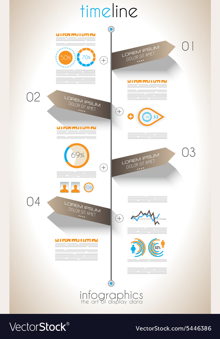 Social media and cloud concept infographic vector