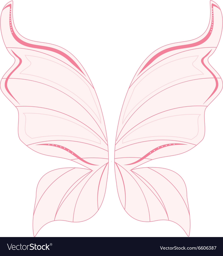 Pink fairy wings vector