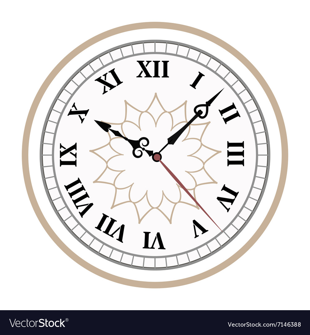 Clock watch alarms icons vector