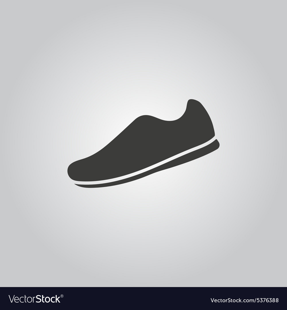 Sneaker icon shoes symbol flat vector