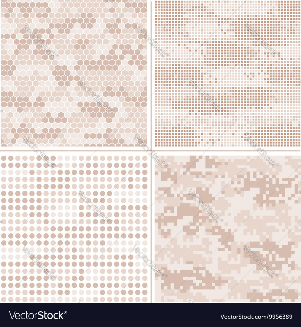 Seamless digital pixel camouflage vector