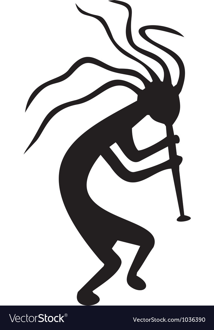 Kokopelli  tribal tattoo symbol vector